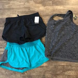 Pants - NEW workout shorts and tank